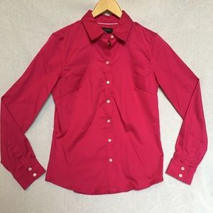 Banana Republic Bright Pink Button up Blouse 6